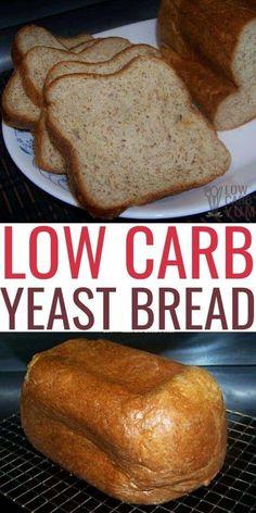 Yeast Bread Recipes, Bread Machine Recipes, Bread Machines, Paleo Bread Recipe With Yeast, Best Low Carb Bread Machine Recipe, Low Carb Almond Bread Recipe, Bread Recipe For Diabetics, Almond Meal, Healthy Low Carb Recipes