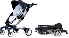 the first power-folding stroller out there, the 4moms origami collapses with a push of a button. it has lights on the bottom for when you're out at night, plus the lcd screen tells you how fast you're pushing the stroller, how far you've walked, and the temperature. oh, and did i mention that you can charge your phone with this stroller too?