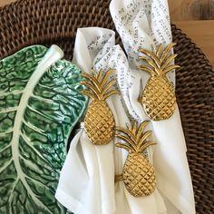 Image of Brass Pineapple Napkin Ring