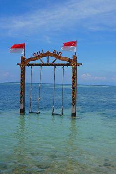 Gili Air Ocean, Bali, Indonesien