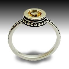 Desire with Citrine inlaid Stone by Artisan Look