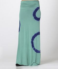 Look what I found on #zulily! Spring Green & Navy Ring Hi-Low Midi Dress & Maxi Skirt by Urban X #zulilyfinds
