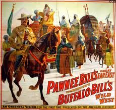 Poster (c1912) of Oriental Vision for Buffalo Bill's Wild West & Pawnee Bill's Show (Strobridge Litho Co.