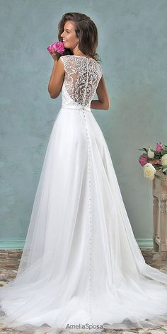 Jeweled Wedding Dresses - Trend For 2016 ❤ See more: http://www.weddingforward.com/jeweled-wedding-dresses/ #wedding #dresses