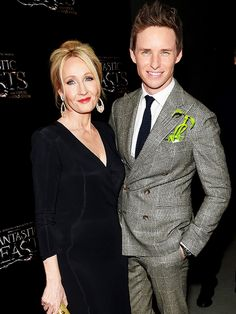 Eddie Redmayne and J. K. Rowling attend the 'Fantastic Beasts And Where To Find Them' World Premiere at Alice Tully Hall, Lincoln Center on November 10, 2016 in New York City.