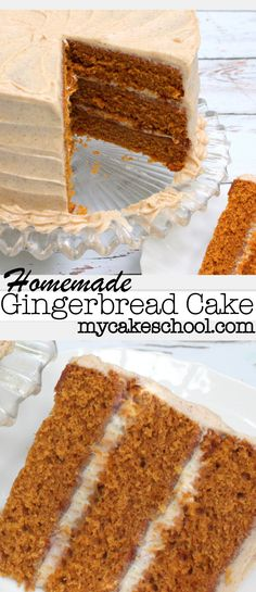 Moist and delicious Gingerbread Cake Recipe from scratch by MyCakeSchool.com! Online cake tutorials, recipes, videos, and more!
