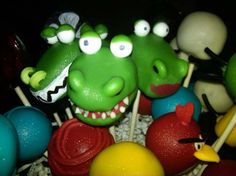 Alligator Cakepop Candy beads for noses By my heavenly Cakepops