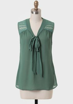 Delamere Forest Necktie Blouse + this place has cute stuff at very reasonable prices.
