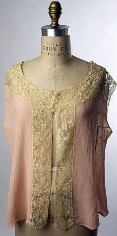 1930 American silk Bed Jacket