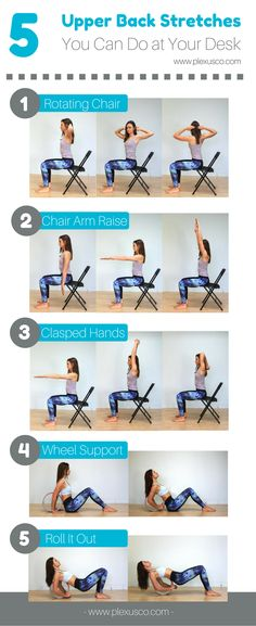 Yoga Poses & Workout : upper back stretches at office Lose Your Belly Diet, Lose Belly Fat, Senior Fitness, Yoga Fitness, Back Stretches For Pain, Easy Stretches, Stretching Exercises, Office Exercise, Office Workouts