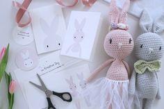 Søde kanin postkort & Til og fra – kort i samarbejde med Vibe mai – Gratis Print   Den Kreative Sky