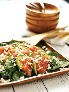 Fresh and Light Summer Salad with Spinach, Avocado and Grapefruit --> http://www.hgtvgardens.com/recipes/spinach-salad-redux-grapefruit-and-avocado-make-this-salad-sing?soc=pinterest