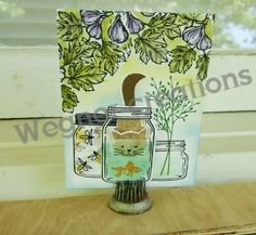 Jar of Love and Foxy Friends - Stampin' Up! by Amy Wegner 3d Cards, Love Cards, Stampin Up Cards, Cat Crafts, Paper Crafts, Foxy Friends Punch, Mason Jar Cards, Pots, Love Stamps