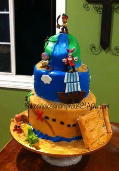 Jake and the neverland Pirates Cake  - wow this is cool too! So many choices! I wish I was so talented!