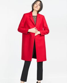 MASCULINE WOOL COAT - View all - Woman - NEW IN | ZARA Ukraine