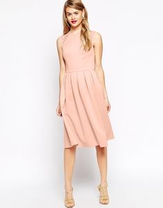 Enlarge ASOS Lace Sleeve Skater Midi Dress