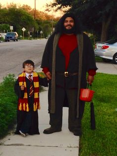 Harry and Hagrid. The things parents do for their children.