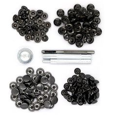 CrazyEve Leathercraft Gunmetal Copper Press Studs Snap Fasteners Poppers Sewing Clothing Snaps Button 40 pcs With Fixing Tool (633(12.5mm)) *** Read more at the image link.