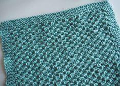Forårsfornemmelser - Strikket karklud - Ecoknitting Waffle Stitch, Big Knit Blanket, Jumbo Yarn, Big Knits, Knit Pillow, String Bag, Sweater Knitting Patterns, Knitted Bags, Cool Patterns