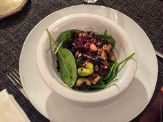 Salade parfumée - Pois chiches, kale et aubergines grillées
