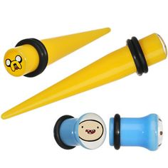 0 Gauge Acrylic Licensed Adventure Time Plug and Taper Set #bodycandy #adventuretime #plugs $16.99