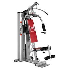 BH Fitness Unisex Pro Titanium Multi Gym, Grey/Red, Unique