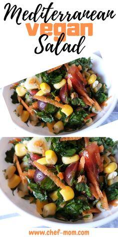 Mediterranean Vegan Salad recipe , it's healthy easy and tasty delecioius salad content a lot of good ingredients for nutrition salad recipe like parsley.