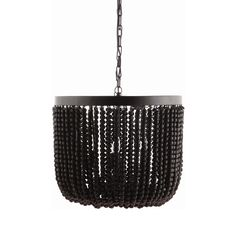 Dramatic, bold, and spicy—these are attributes of the Gatsby Chandelier, a simply gorgeous and novel light made from metal and graced with rounded rows of black wooden beads. This elegant lamp offers a...  Find the Gatsby Chandelier, as seen in the Bohemian Sanctuary Collection at http://dotandbo.com/collections/bohemian-sanctuary?utm_source=pinterest&utm_medium=organic&db_sku=112171