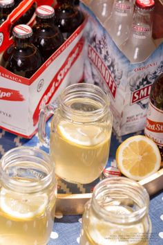 Lay back and help yourself to the Stripey Shandy! 1 (11.2 oz) bottle Smirnoff Ice Original, 1 (11.2 oz) bottle of Red Stripe beer and a lemon wheel. Pour chilled beer, then Smirnoff Ice into a pint glass and top with a lemon wheel. Cheers! Serves 2 #Smirnoff #Vodka #StripeyShandy #RedStripe #Beer #Lemon #Drink #Recipe