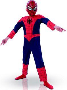 Ultimate Spiderman™ 3D-Kostüm für Jungen: Dieses Ultimate Spiderman™ 3D-Kostüm für Jungen ist lizenziert und beinhaltet einen Anzug und eine Maske.Der dreidimensional gestaltete Einteiler hat steinharte Muskeln und eine...