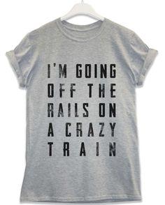 Crazy Train - Lyric Quote T Shirt - Sport Grey / Large