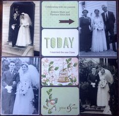 Heritage wedding Project Life layout. By Michele Hinton #Heiddi Swapp cut out card