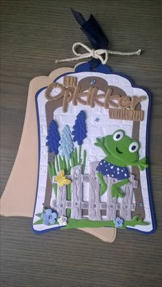 3d Cards, Cute Cards, Card Tags, Gift Tags, Marianne Design Cards, Pinterest Crafts, Cute Frogs, Die Cut Cards, Punch Art