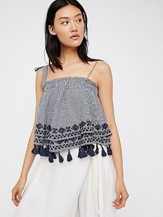 Shop Now - >  https://api.shopstyle.com/action/apiVisitRetailer?id=643965303&pid=uid6996-25233114-59 Embroidered Gingham Tube by Free People  ...