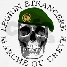 French Foreign Legion logo on a tee shirt.
