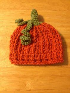 Lil' Pumpkin Crochet Hat... just image