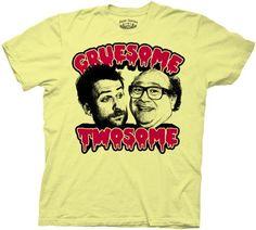 BESTSELLER! It`s Always Sunny in Philadelphia Gruesome Twosome Charlie & Frank Yellow Adult T-shirt Tee $17.95