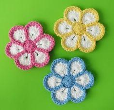 Criatividades em Crochê: Vídeo aula de uma flor em crochê