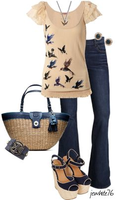 """Bluebird Spring"" by jewhite76 ❤ liked on Polyvore"