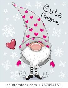 Illustration about Greeting Christmas card Cute Cartoon Gnome on a blue background. Illustration of dwarf, cute, handmade - 105173638 Christmas Gnome, Christmas Art, Christmas Greetings, Christmas Decorations, Christmas Ornaments, Christmas Clipart, Illustration Noel, Marianne Design, Cute Cartoon