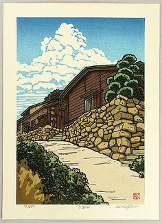 Katsuyuki Nishijima | Hill of Murotsu | woodblock print