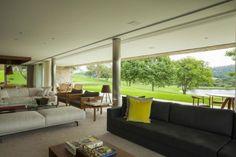 Halboffener Wohnpavillon mit Schiebetüren-Lounge Möblierung