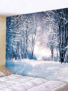Christmas Snow Forest Print Wall Tapestry They are beautiful, lovable and affordable. You deserve Trippy Tapestry, Tapestry Nature, Moon Tapestry, Tapestry Bedroom, Mandala Tapestry, Tapestry Crochet, Tapestry Headboard, Ceiling Tapestry, Cheap Wall Tapestries