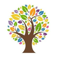 dibujos de hojas de otoño: Resumen Árbol Con Hojas