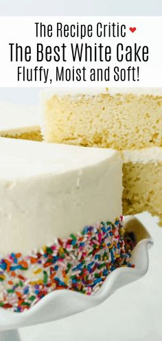 This white cake is a recipe you will come back to time and time again for a delicious and beautiful result. Fluffy, moist, and soft, this really is a cake to impress! Dessert Cake Recipes, Delicious Cake Recipes, Sweets Cake, Frosting Recipes, Candy Recipes, Yummy Cakes, Baking Recipes, Cookie Recipes, Cupcake Cakes