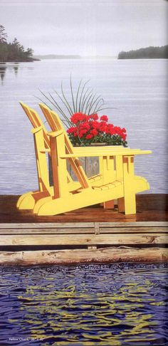 Yellow chairs, by Canadian Artist from Muskokas