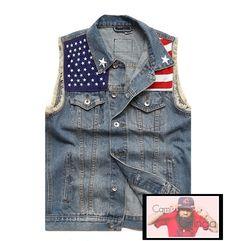 9cd3341951c80 camisa gringa · Colete Jeans HB (E.U.A)
