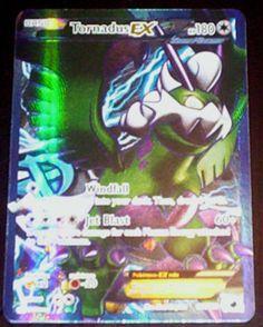 TORNADUS EX FULL ART Ultra Rare Holo PLASMA BLAST Pokemon Card 114/116 (NM-MINT)
