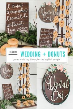 Did someone say Donuts? Over 400 Wedding Decoration Ideas & Unique Signs for Your Big Day! Gorgeous sweetheart table signs, table numbers, bridal accessories & gifts... and so much more! Save on shipping and order in bulk!