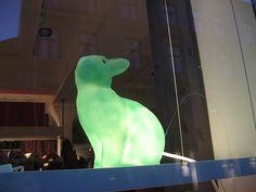 Bunny lamp by catseatsocks #bunnyinthewindow